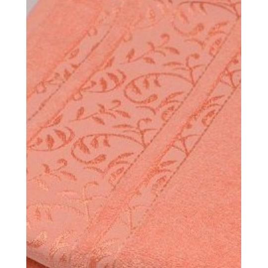 Полотенце 50х90 махровое Флора, персиковый