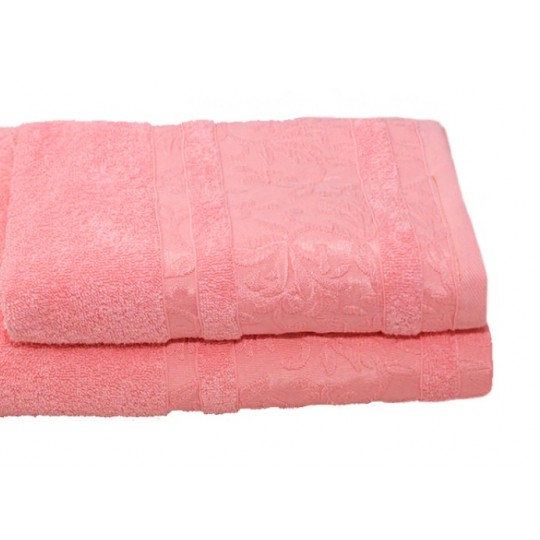 Полотенце 50х90 махровое Лейла, розовый