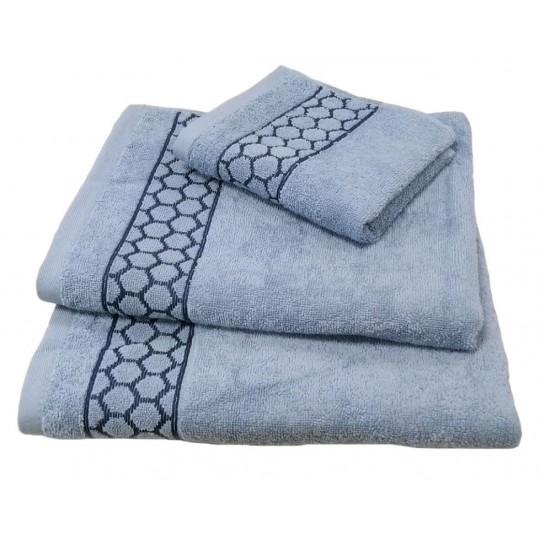 Полотенце 50х90 махровое Медея, голубой