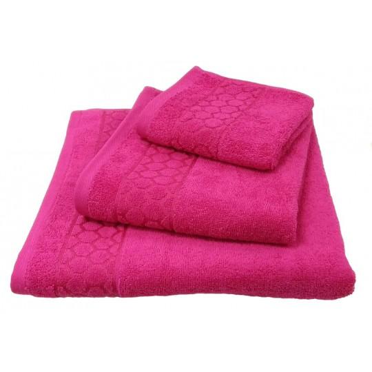 Полотенце 50х90 махровое Медея, розовый